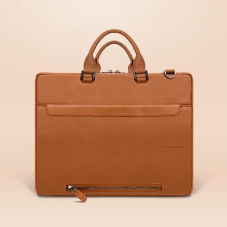Berto Corporate Laptop Bag Brown Back