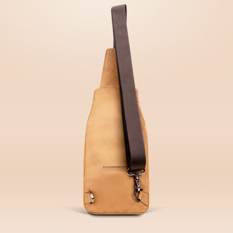 Alfonso Urban Sling Bag Brown Back