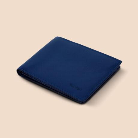 Berto Slim Plus Wallet Navy Front