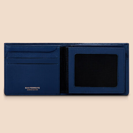 Berto Slim Plus Wallet Navy Inside