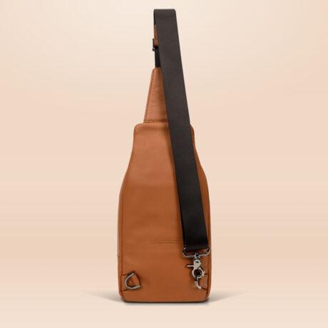 Berto Urban Sling Bag Brown Back